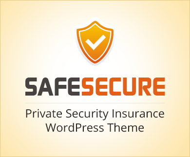 Safe Secure - Private Security Insurance WordPress Theme & Template