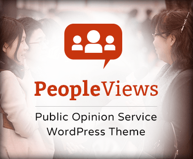 People Views - Public Opinion Service WordPress Theme & Template