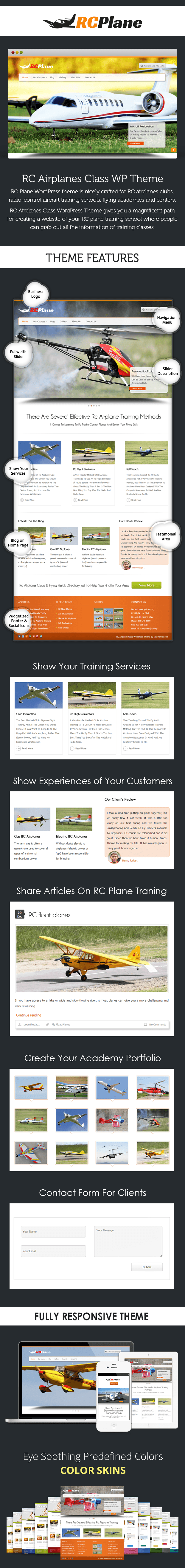 RC Airplanes Class WP Theme