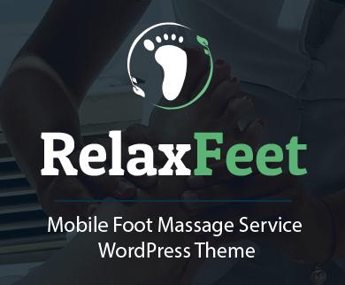 Relax Feet - Mobile Foot Massage Service WordPress Theme & Template