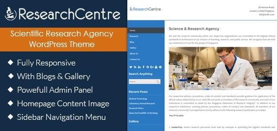 Scientific Research Agency WordPress Theme