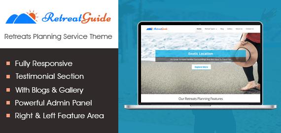 Retreats Planning Service WordPress Theme