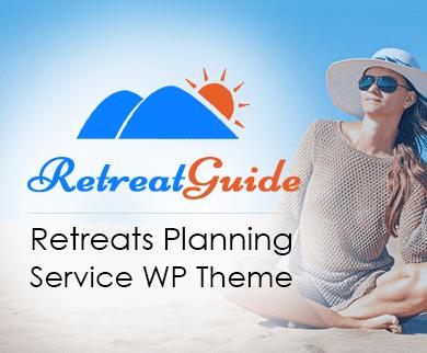 Retreat Guide - Retreats Planning Service WordPress Theme & Template