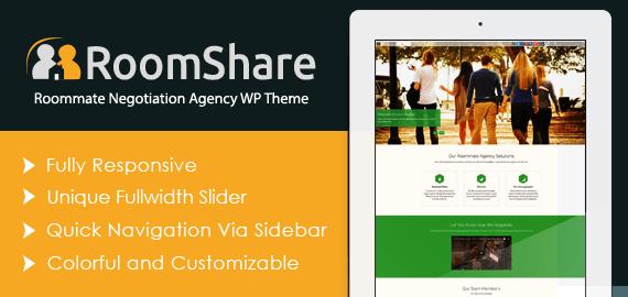 Roommate Negotiation Agency WordPress Theme & Template