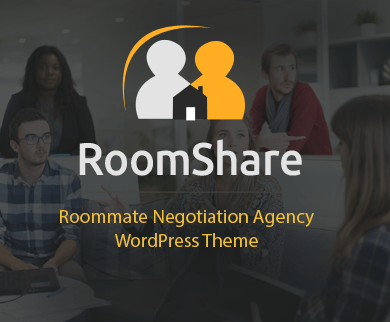 RoomShare - Roommate Negotiation Agency WordPress Theme & Template