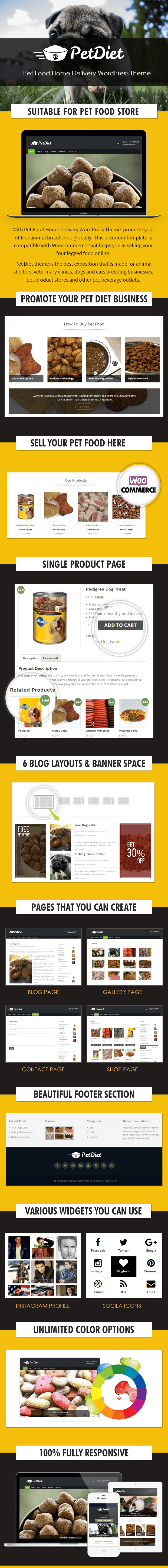 Pet Food Home Delivery WordPress Theme