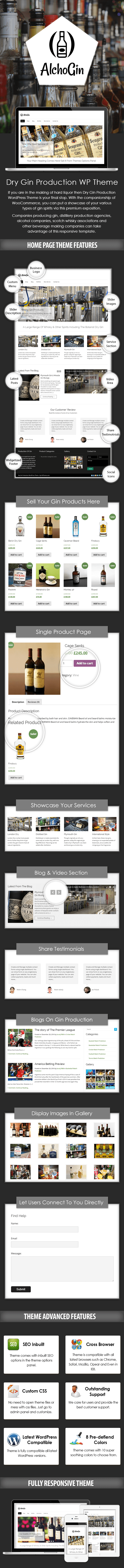 Dry Gin Production WordPress Theme