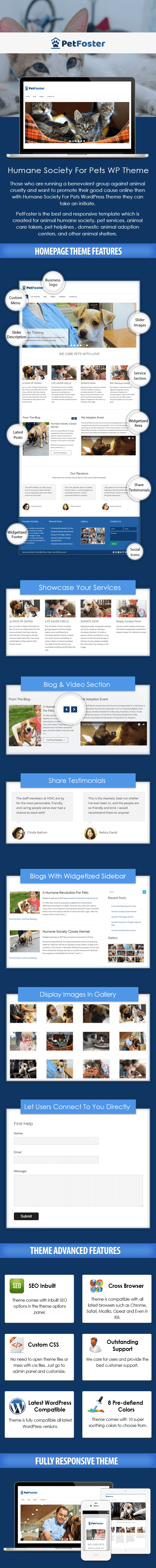 Humane Society For Pets WordPress Theme