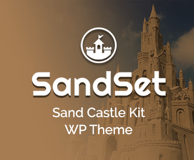 Sand Set - Sand Castle Kit WordPress Theme & Template