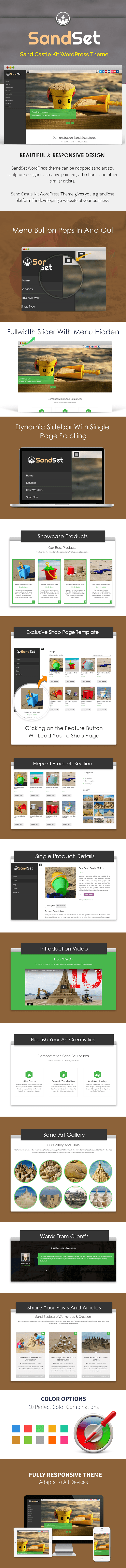 Sand Castle Kit WP Theme