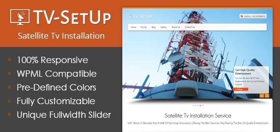 Satellite Tv Installation Service WordPress Theme