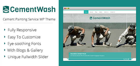 CementWash – Cement Painting Service WordPress Theme