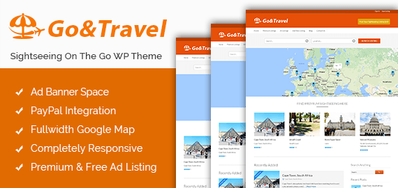Go & Travel – Sightseeing On The Go WordPress Theme