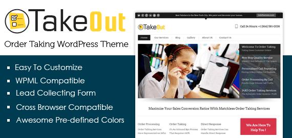 Order Taking WordPress Theme