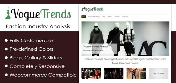 Fashion Industry Analysis WordPress Theme