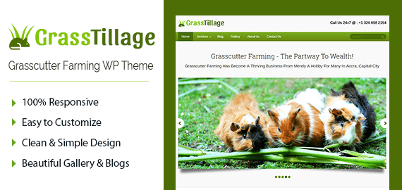 Grasscutter Farming WordPress Theme