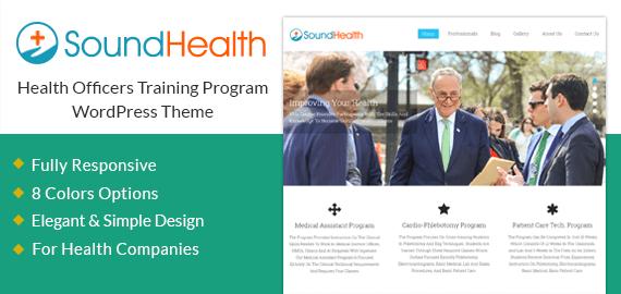 Health Officers Training Program WordPress Theme