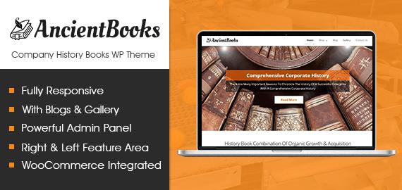 AncientBooks – Company History Books WordPress Theme