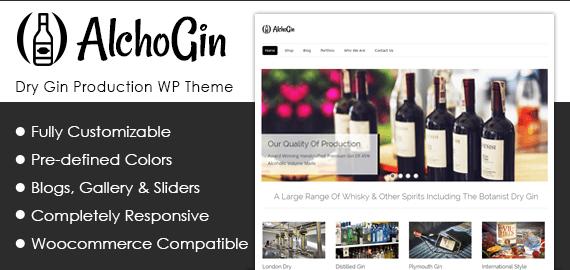 Dry Gin Production WordPress Theme