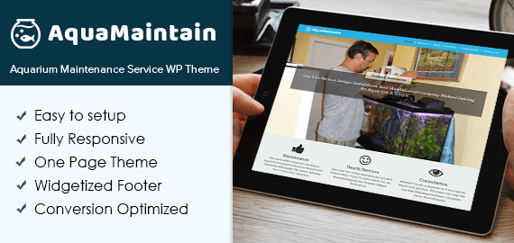 Aquarium Maintenance Service WordPress Theme & Template