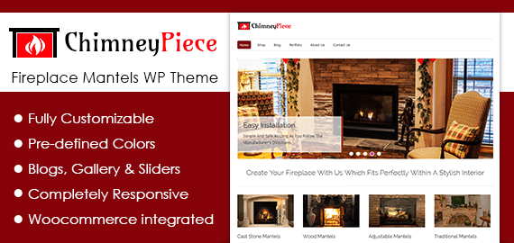 Fireplace Mantels WordPress Theme