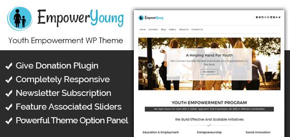 Youth Empowerment Program WordPress Theme & Template | InkThemes