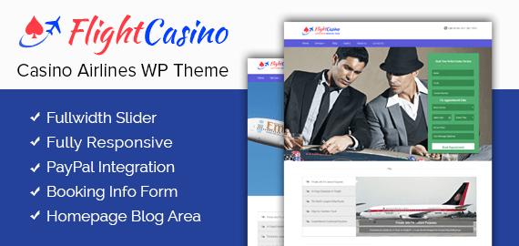 Casino Airlines WordPress Theme & Template