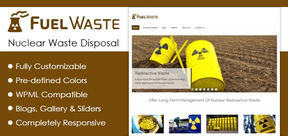 Nuclear Waste Disposal WordPress Theme