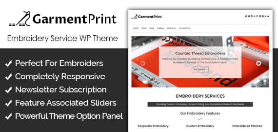 [GarmentPrint] Embroidery Service WordPress Theme