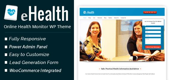 Online Health Monitor Service WordPress Theme