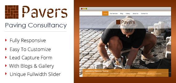 Paving Consultancy WordPress Theme & Template