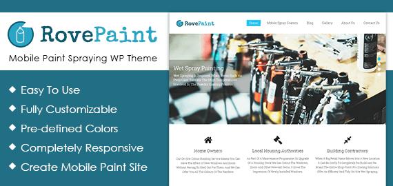 Mobile Paint Spraying WordPress Theme & Template