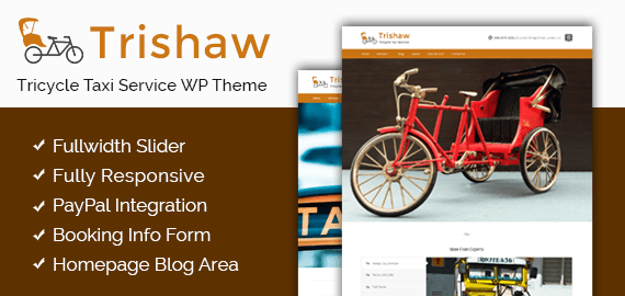 Tricycle Taxi Service WordPress Theme & Template