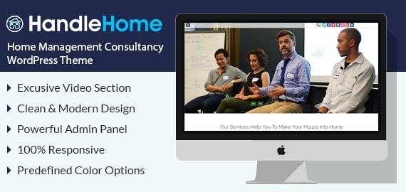 Home Management Consultancy WordPress Theme