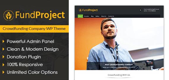 Crowdfunding Company WordPress Theme