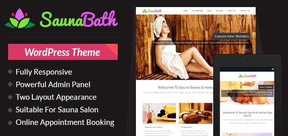 Sauna Salon WordPress Theme