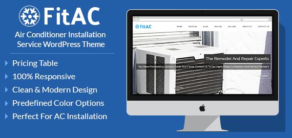 Air Conditioner Installation Service WordPress Theme
