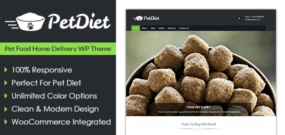 Pet Diet – Pet Food Home Delivery WordPress Theme