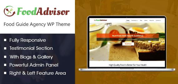 Food Guide Agency WordPress Theme