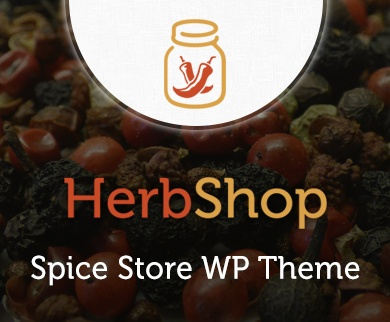 Herb Shop - Spice Store WordPress Theme & Template