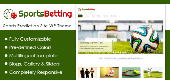 Sports Prediction Site WordPress Theme & Template | InkThemes