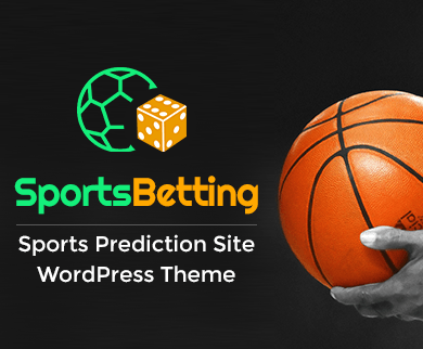 Sports Betting - Sports Prediction Site WordPress Theme & Template