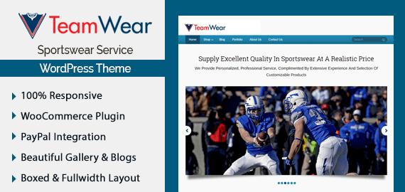 Sportswear Service WordPress Theme