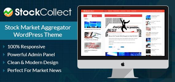 Stock Market Aggregator Site WordPress Theme