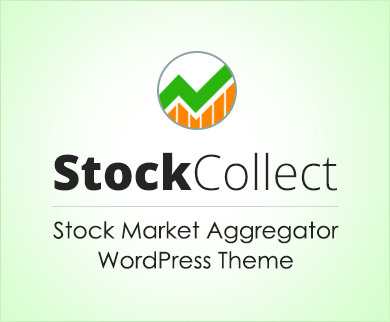 Stock Collect - Stock Market Aggregator Site WordPress Theme & Template