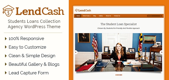 Students Loans Collection Agency WordPress Theme