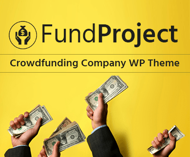 Fund Project - Crowdfunding Company WordPress Theme & Template