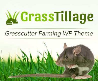 Grass Tillage - Grasscutter Farming WordPress Theme & Template
