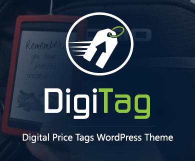 DigiTag - Digital Price Tags WordPress Theme & Template