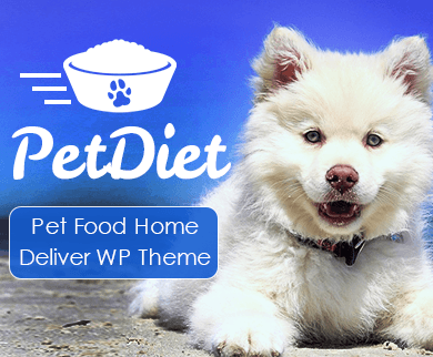 Pet Diet - Pet Food Home Delivery WordPress Theme & Template